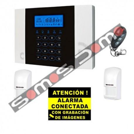 Kit de Alarma Táctil GSM. Central + 2 PIR + Mando