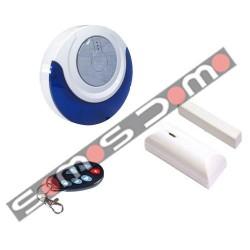 Kit Autónomo para Interior: Sirena + Contacto Magnético + Mando a Distancia