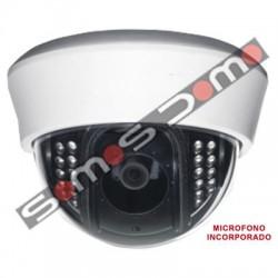 Cámara domo con micrófono incorporado Sony 700 líneas