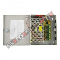 Caja de distribución de alimentación con voltaje continuo de hasta 9 cámaras