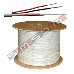 Bobina de 300 m cable combinado Micro RG-59 + alimentación