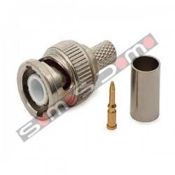 Conector BNC macho para crimpar cable RG-59 para camaras de vigilancia