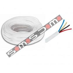 Bobina 100 m de Cable de Alarma de 4 hilos