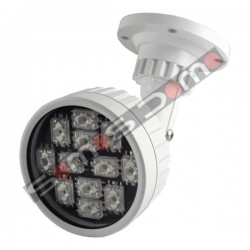 Foco de iluminación infrarroja de exterior, alcance 100 metros