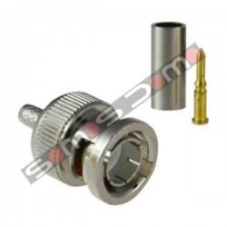 Conector BNC fino macho para crimpar cable de CCTV RG-174 y Micro RG-59