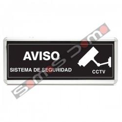 Cartel iluminado de advertencia de vigilancia CCTV para interiores