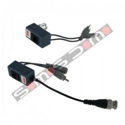 Transceptor pasivo de vídeo (balun), audio y alimentación