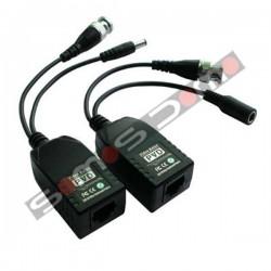 Transceptor pasivo de vídeo (balun) + Alimentación con descarga eletroestática