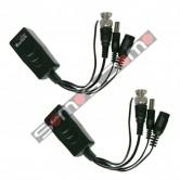 Transceptor pasivo de vídeo, datos y alimentación por par trenzado, UTP