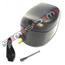 Receptor bicanal monoestable/bi-estable con caja, soporte y antena para Motorline, Seav, Pujol, Proteco...