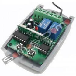Receptor bicanal universal para mandos Rolling code o codigo fijo a 433,92 Mhz