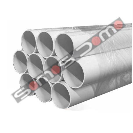 Tubo para aspiración centralizada, color blanco